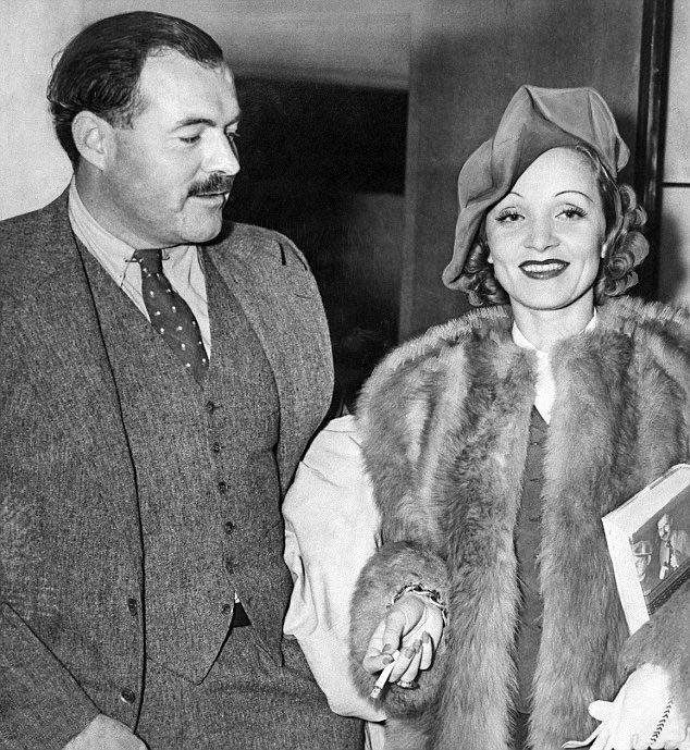 Ernest Hemingway & Marlene Dietrich - 1938  #oldhollywood <br>http://pic.twitter.com/ddXsmpzE6y