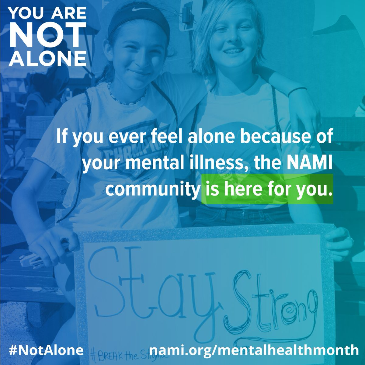 It may almost be the end of #MentalHealthMonth, but that doesn't mean we should stop spreading awareness. NAMI provides help and resources every day of the year. https://t.co/kjd9CKa7Gy