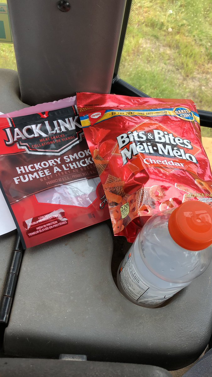 Lunch (and probably supper) in the field today, brought to you by whatever I could find at the Newbury grocery store #gourmet pic.twitter.com/JwY7Ic7ZuT
