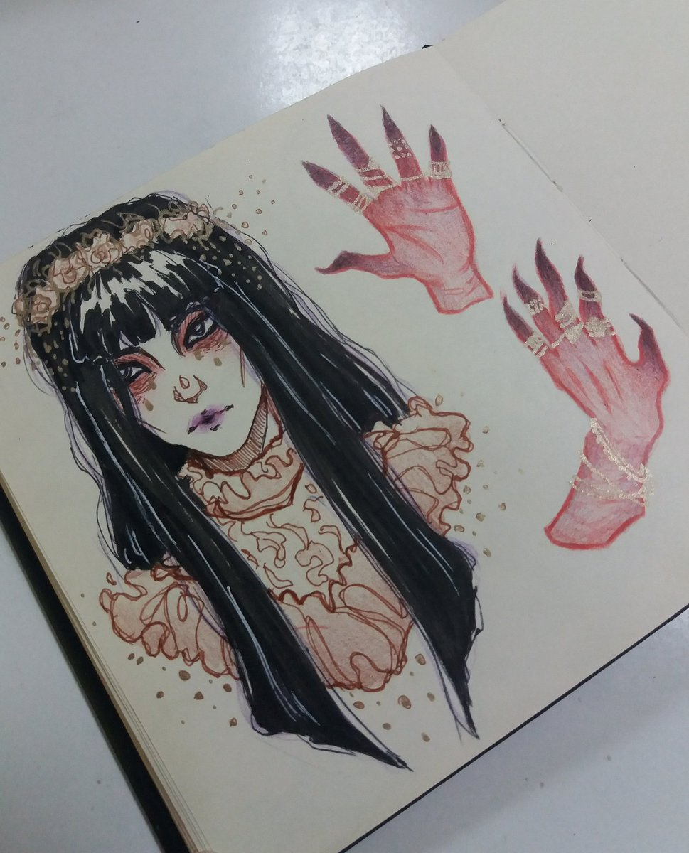 I can't draw hands to save my life  #sketch #sketchbook #originalcharacter #オリキャラ #イラスト好きな人と繋がりたいpic.twitter.com/NwQxg8E6Cj