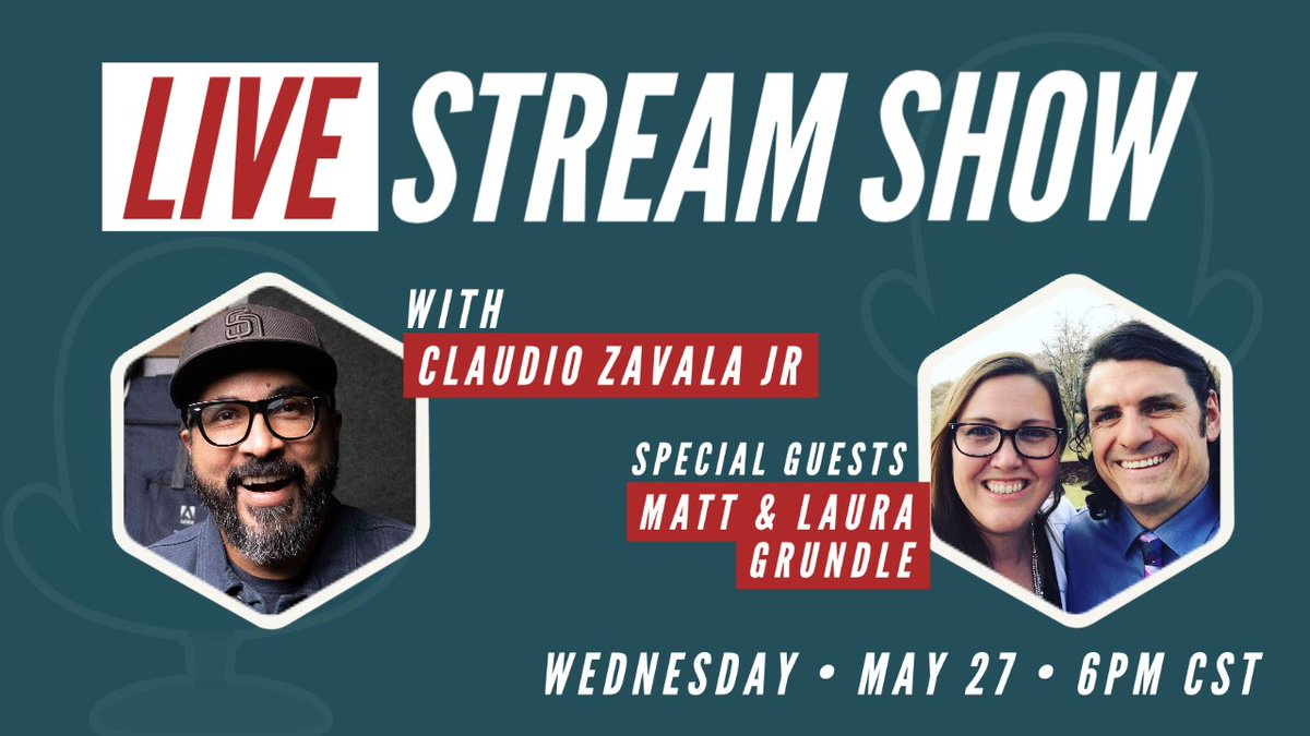 🚨 HEY FRIENDS! 🚨 Join me Wednesday for livestream show with special guests Matt & Laura Grundle @creativitydept We'll chat about being creative, promoting the arts & more! #K12ArtChat #edtech #creativity #becreative 🗓 Wednesday May 2️⃣7️⃣ 🕕 6️⃣pm CST 🖥 youtu.be/1dMN4O47j-0