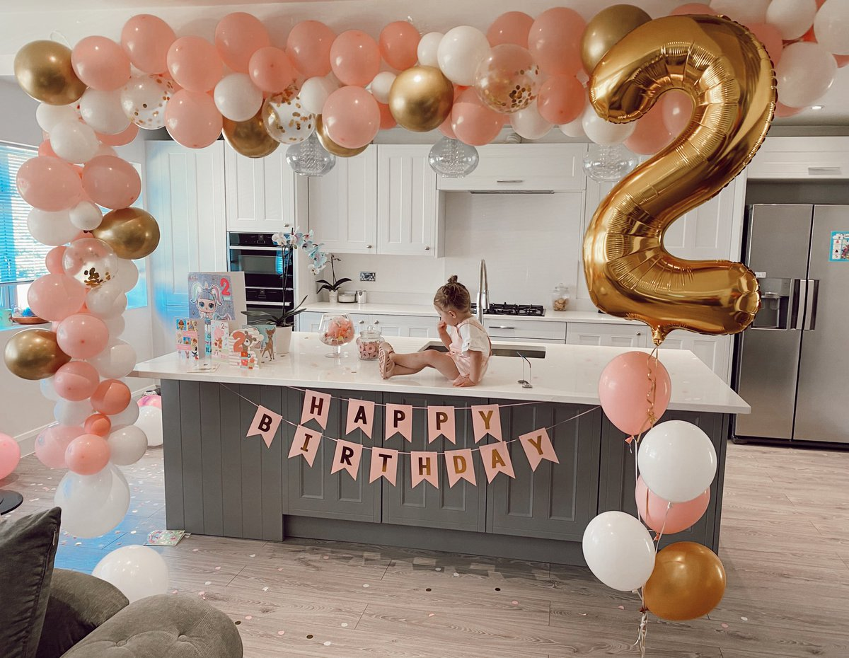 Happy 2nd Birthday our darling Delilah-Rae 💕 Despite being in lockdown we've had the best day! Thank you for all of the lovely Birthday wishes 💕  https://t.co/CrAkqpMTPH https://t.co/7yG1wzVbJd