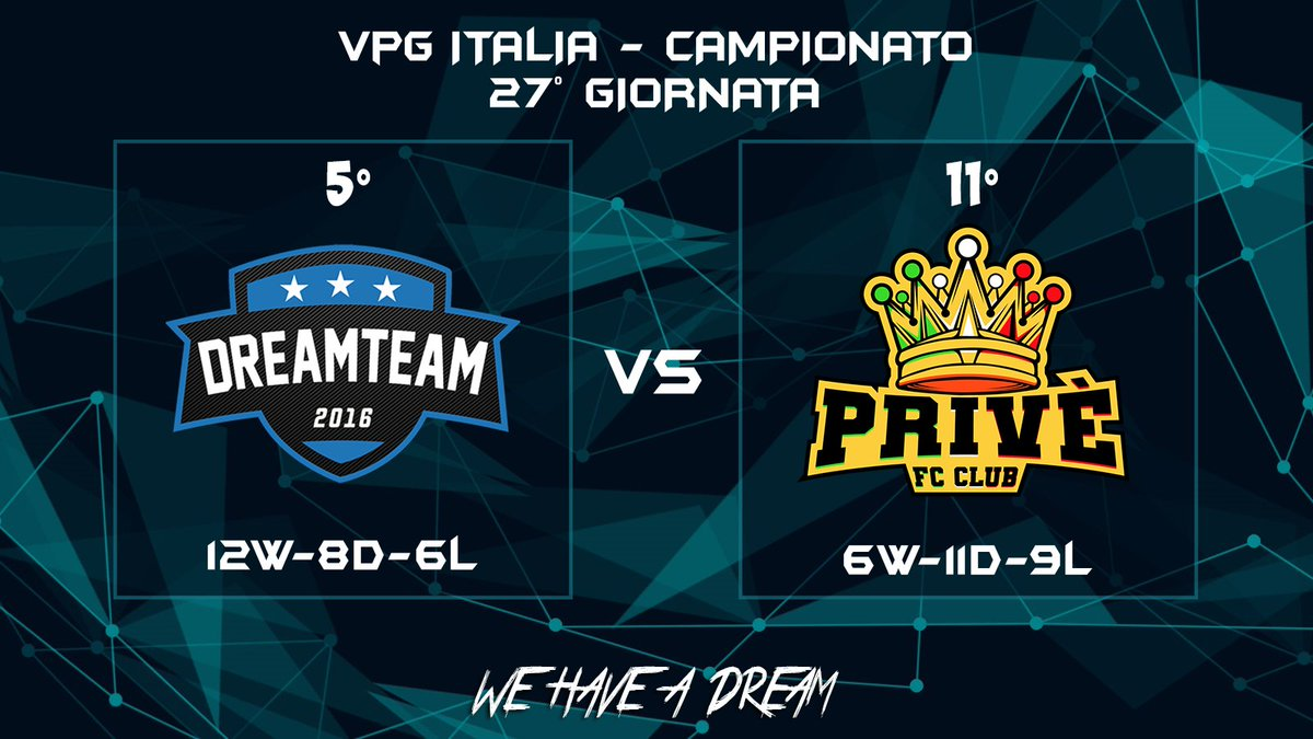 Matchday:  | @VPG_Italy  | @fc_prive  | 22:45  #WeHaveADream #GoDreamers pic.twitter.com/FDn5ujXADp