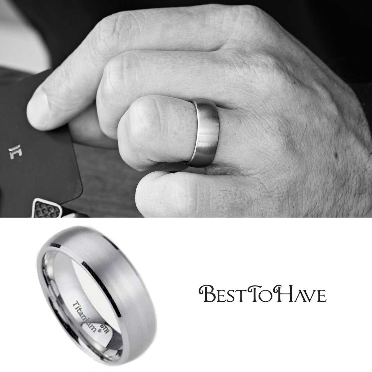 Endless Love Brushed Titanium Wedding Ring  Code: 2685 £24.99  Shop more:  #Besttohave #Besttohavejewelry #rings #engagement #outfit #outfitoftheday #menrings #weddingrings #lovejewelry #ring #titaniumRing #titaniumjewelry #cubiczirconia #wedding #titanium