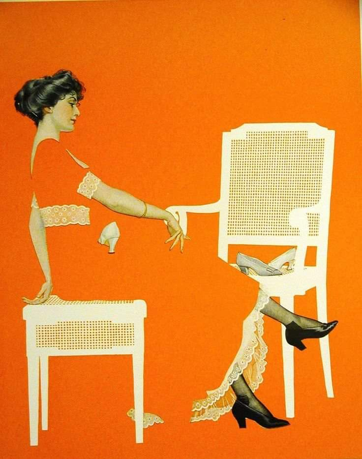 """Coles Phillips, a popular #illustrator of the 1910s-20s, designed ads & covers for magazines such as Life & Good Housekeeping. He is best known for his iconic """"fadeaway girls,"""" whose clothes blend into a same-colored background while still suggesting the subject's outline. pic.twitter.com/eEZIy8NzN9"""