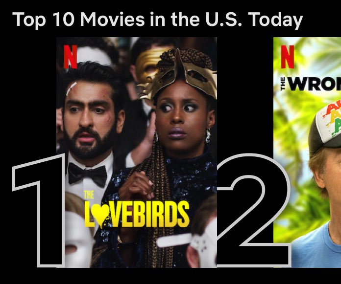 #TheLovesbirds is the number 1 movie on @netflix in the U.S.! Thanks for watching!