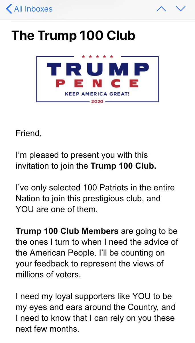Membership to a soon to be bankrupted Trump Club anyone? Me: hard pass #Biden2020 pic.twitter.com/HsjEW1UnSM
