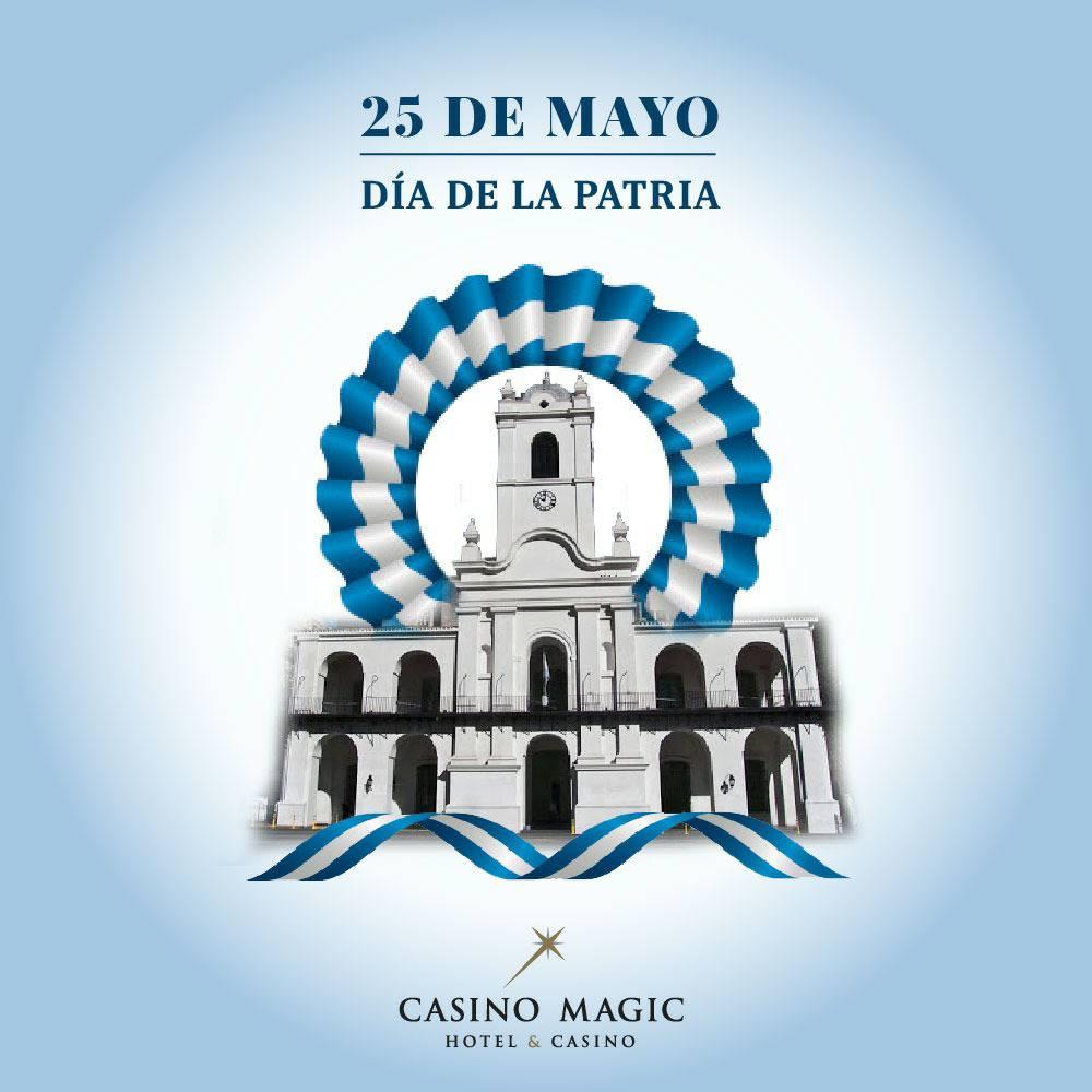 FELIZ DIA DE LA PATRIA!!!  El 25 de mayo de 1810 se formó la Primera Junta. Aunque gobernaba nominalmente en nombre del rey de España, fueron los primeros pasos en la formación del Estado argentino  #CasinoMagic #Neuquen Todo lo que imaginabas y MÁS! https://t.co/G5nApyfict https://t.co/ulxdZx3C5k