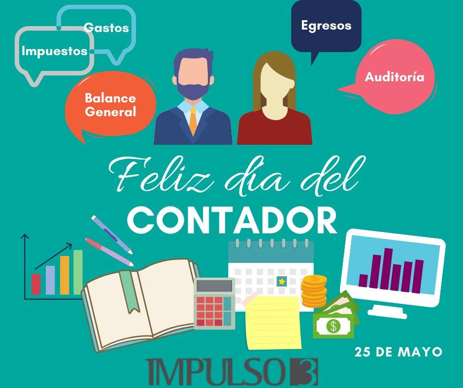 Hoy celebramos a los Contadores y Contadoras. ¡Feliz día!  . . . #Impulsotres #DíadelContador #20demayo #Felizdíadelcontador #Contabilidad #Coachingyconsultoria #RH #ConsultoriaOrganizacional #Impulso3pic.twitter.com/uryx1AjZor