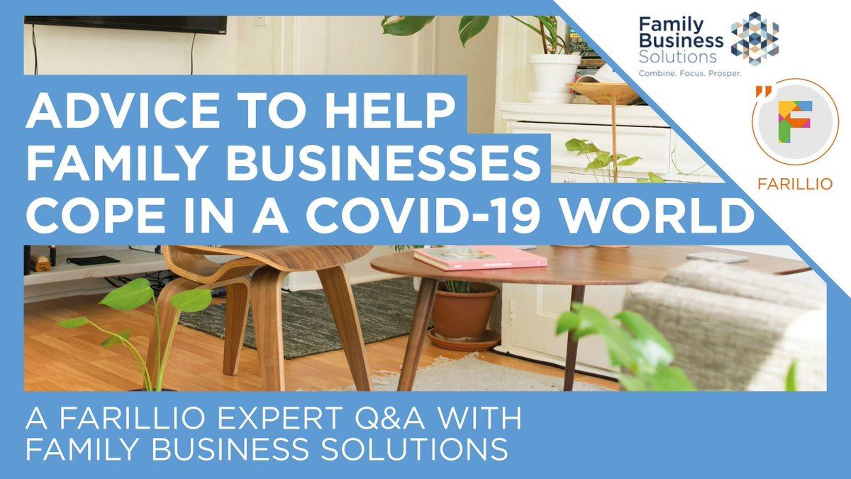 How are family businesses coping in a Covid-19 world? We caught up with our good friends Billy and Mark from @FamBizSolutions to chat through some key guidance for #FamilyBusiness: https://buff.ly/2zVsVRu  #LeaveNoSMEBehindpic.twitter.com/ehDXrbWSWh
