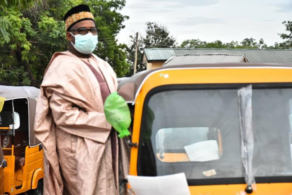 @SenBalaMohammed on Inspection visit to the KEKE NAPEP  site newly  purchased by the Bauchi State Government For distribution to Achaba riders today 25thMay , 2020. pic.twitter.com/2dBtt8m2sy