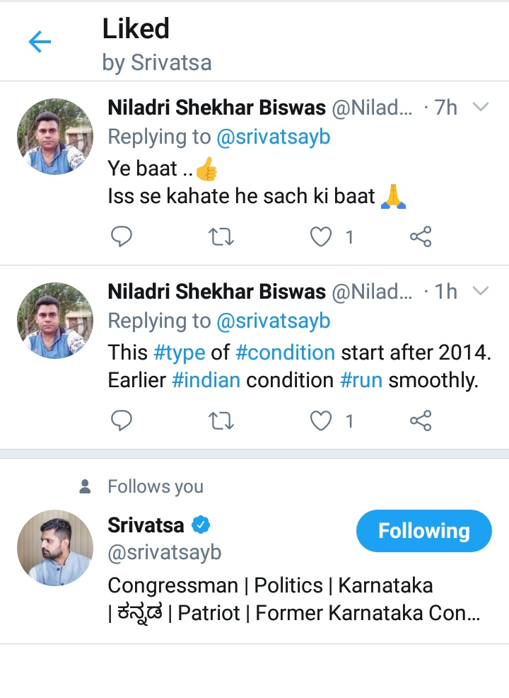 Thank you so much sir  @srivatsayb For #Liking my both #thought pic.twitter.com/3ft2U0enZA