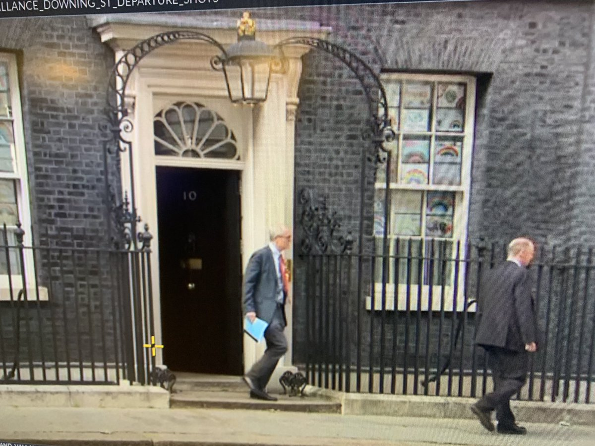 NEW: Prof Chris Whitty and Sir Patrick Vallance left No 10 at approx 1820. Earlier we were told they would be appearing with the PM at the daily press conference. Why did they turn up for the presser and then leave? Have asked No 10 for comment.