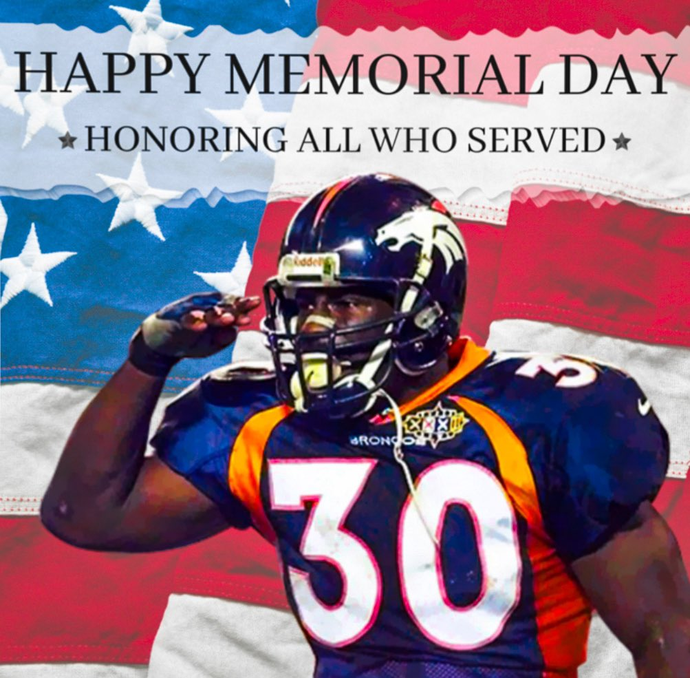 I will continue to salute those who have that sacrificed for our country and freedoms.    #memorialday #milehighsalute #respect #military #america #broncoscountrypic.twitter.com/ZaizPSjw6X