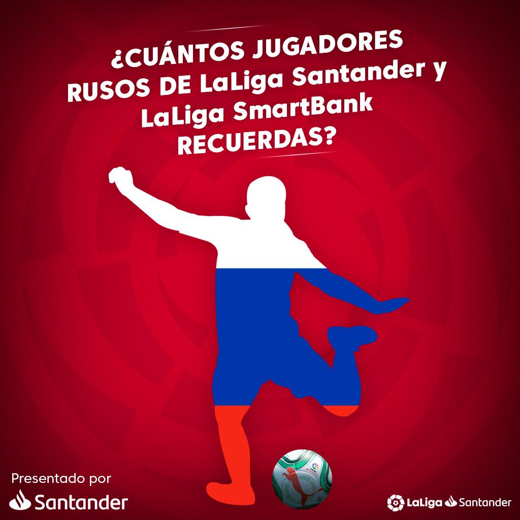 🇷🇺⚽️ ¡Desde Rusia con amor!  📝 ¿Cuántos jugadores RUSOS de #LaLigaSantander y #LaLigaSmartBank recuerdas?  #Santander #LaLigaHistory https://t.co/foIBUmTTPj