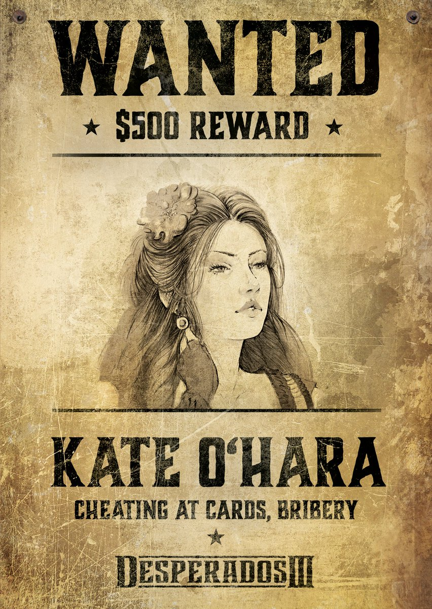 Thq Nordic On Twitter Wanted A 500 Reward Will Be Paid For The Capture Of Kate O Hara Kate Is Guilty Of Cheating At Cards And Bribery If Seen Contact Local Authorities Immediately