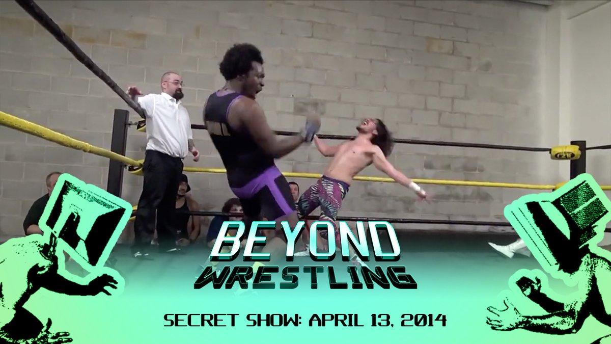 JUST ADDED! @beyondwrestling Secret Show: April 13, 2014! Featuring @_StarDESTROYER v Timothy Thatcher @SpeedballBailey v Buxx Belmar @thejtdunn @TheProductDS v @DirtyDickinson @YeowSavage @jay_freddie v @EricCorvis + @ARealFoxx & more! Watch it now independentwrestling.tv/player/2x78ddr…