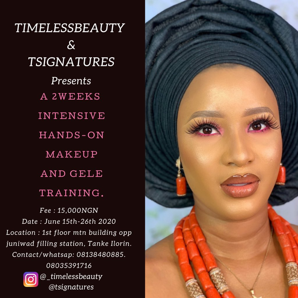 Makeup and gele training with timelessbeauty  tsignatures  #makeuptraining #ilorinpic.twitter.com/XacmgKqSFj