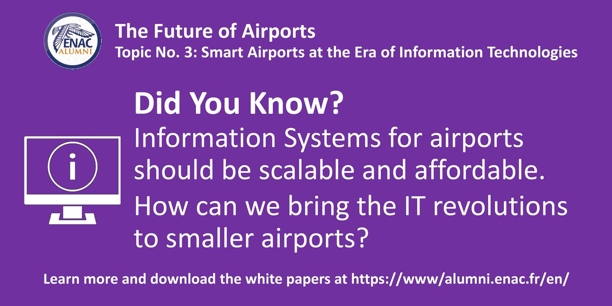 #DYK? #InformationSystems for #airports should be #scalable and #affordable. How can we bring the IT revolutions to smaller airports? Discover Topic No. 3 of #TheFutureOfAirports: https://alumni.enac.fr/en/news/the-future-of-airports-smart-airports-at-the-era-of-information-technologies-topic-no-3-826 … #airports #avgeek #aviation #technology #systemspic.twitter.com/YXVrnkubXD