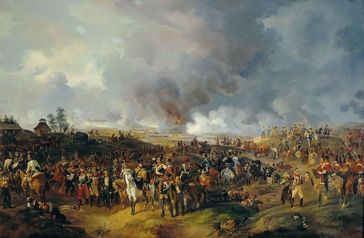 La batalla de Leipzig(1813), también llamada la «batalla de las Naciones», fue el mayor enfrentamiento armado de lasGuerras Napoleónicas. Se produjo tras la desastrosa campaña de Rusia con una Grande Armée muy diezmada. Es la batalla más importante perdida porNapoleón. https://t.co/4jiYP9CiXW
