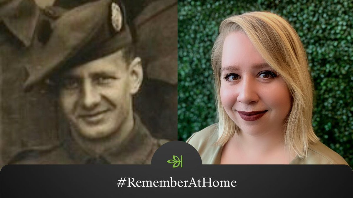 Kathryn Squicciarini's grandfather John Moore wanted to join the fight early in WWII, so he left America & enlisted in Canada.   Join these Ancestry® employees & share who you're honoring this #MemorialDay. Tag @Ancestry & use #RememberAtHome for a chance to have it featured.