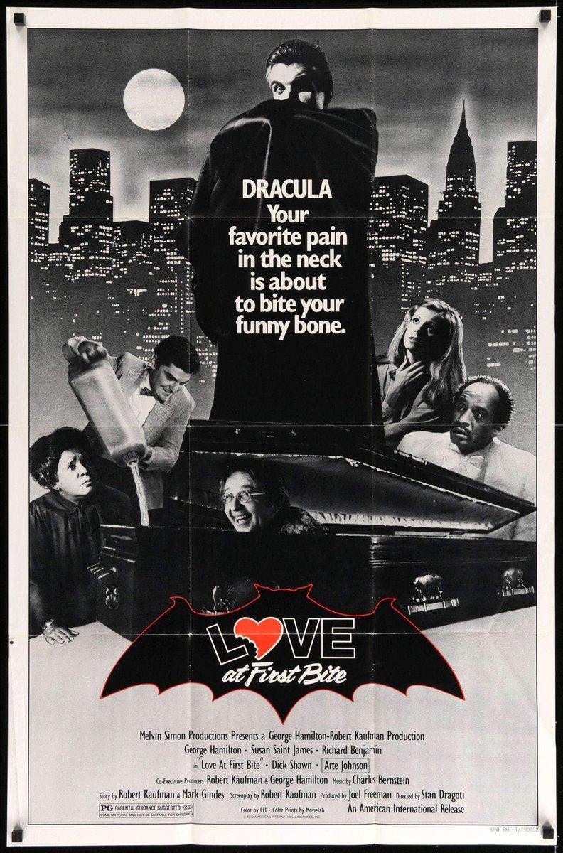 LOVE AT FIRST BITE (1979) #horror #comedy w/ George Hamilton, Susan Saint Jamespic.twitter.com/ng9dPI0bE7
