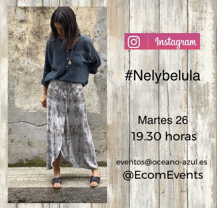 Tomorrow is gonna be a good day. Sure!. Martes de #EcomLive @ecomevents con @nelybelula a las 19.30   #muyfan #calm #moda #fashion #nosencantasujardín #primaveraenACoruña #EcomEvents #Ecomfashion #eventos #OcéanoAzulpic.twitter.com/35FxvtPPGl