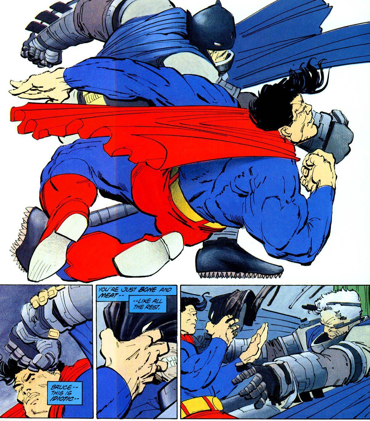 """Íñigo Rodríguez on Twitter: """"Llegamos al momento, a Batman vs Superman. Sacado directamente del final de The Dark Knight Returns de Frank Miller. Snyder leyó esa obra maestra y se flipó. Normal."""