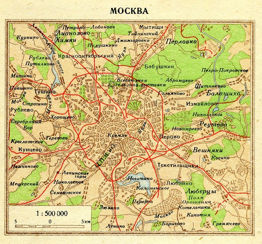 "Moscow map from ""Pocket Atlas of the World"" (1940)  #moscow #map #ссср #москва pic.twitter.com/1soAA5Nt2V"
