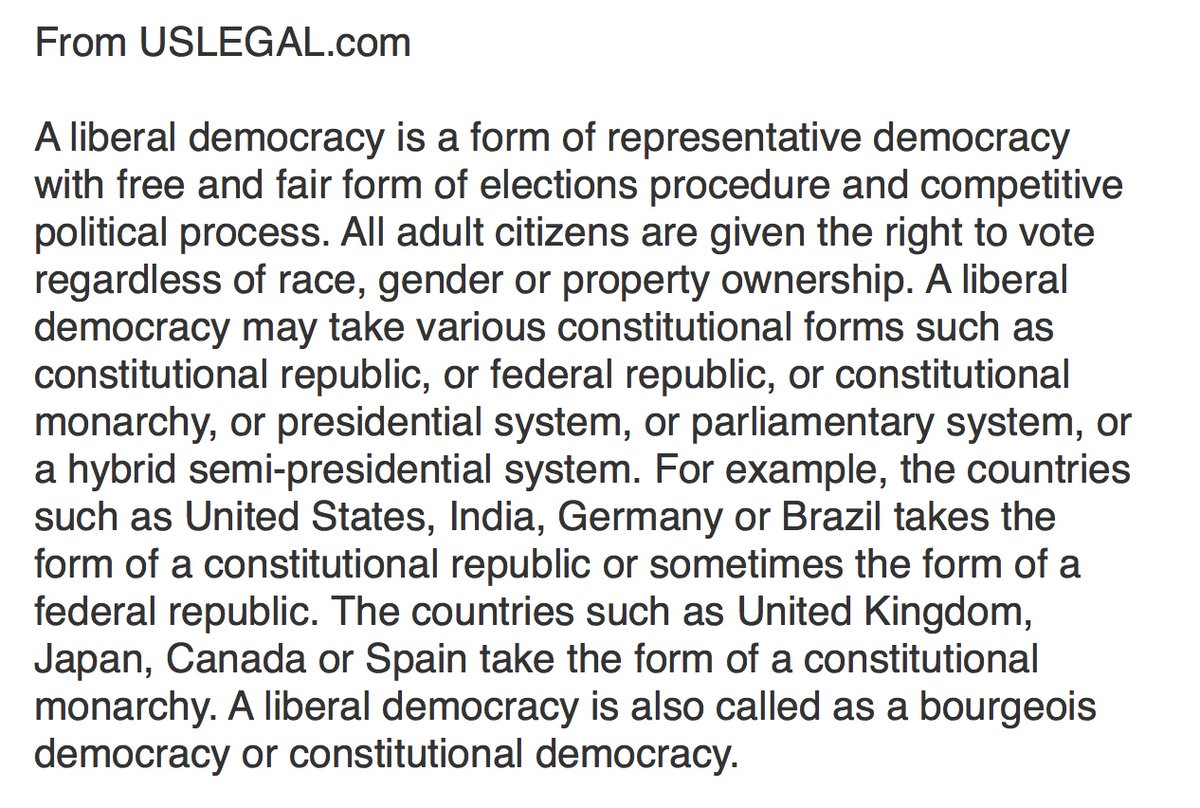 """1/ For a more complete definition of """"liberal democracy,"""" how about ⤵️ The drafters of the Constitution liked the idea of liberal democracy—but they limited """"we the people"""" to white (mostly landowning) men."""