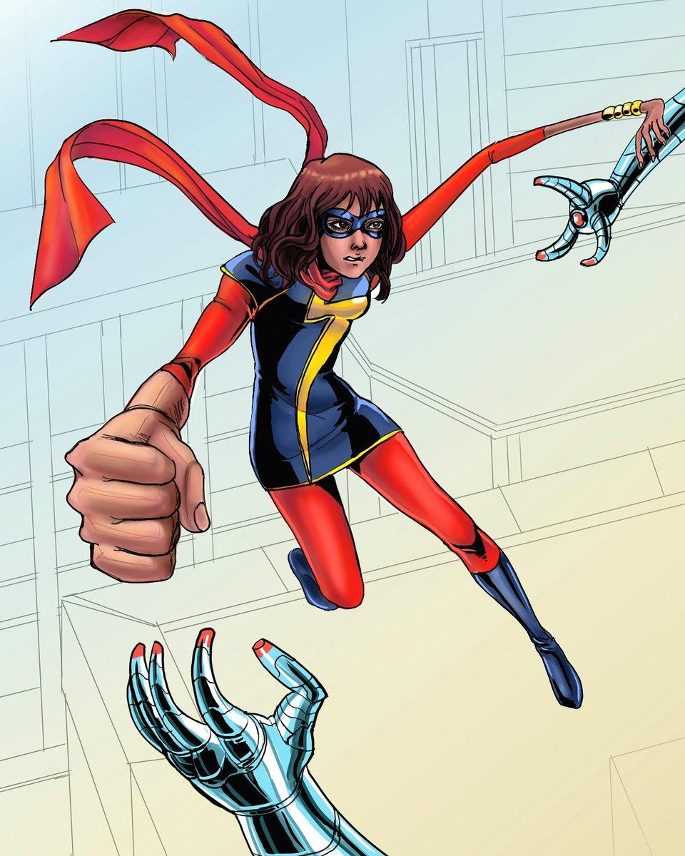 Ms.Marvel fanart  #illustration<br>http://pic.twitter.com/dL8LbDswgR