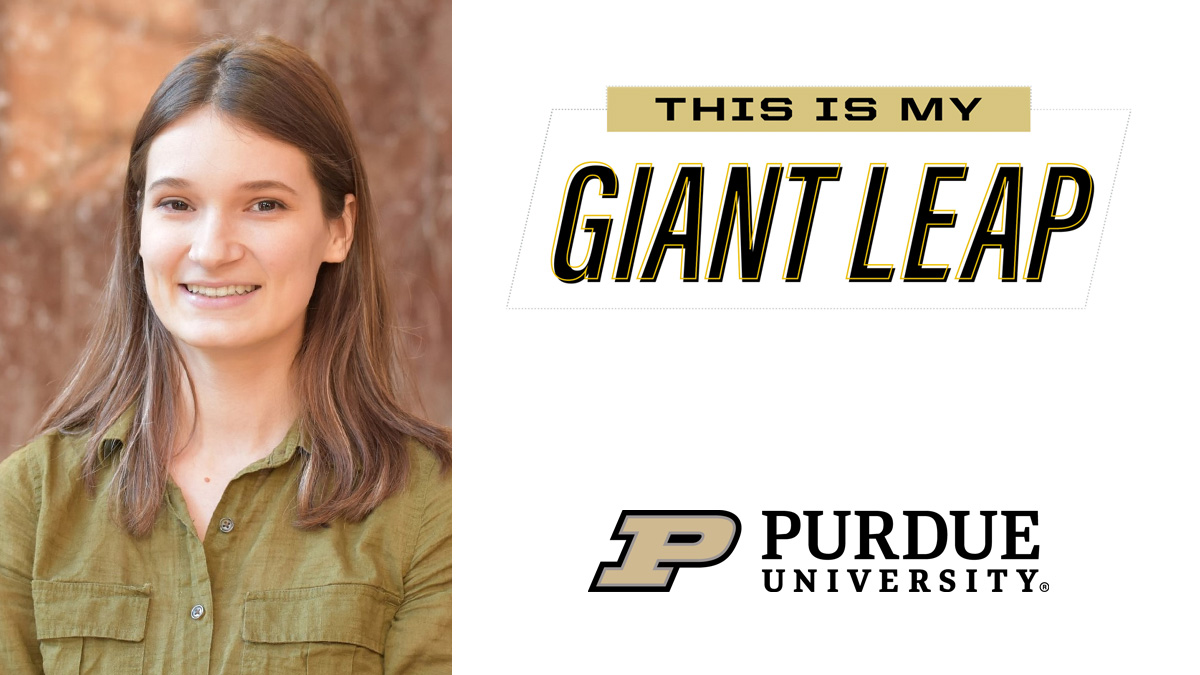 #TheNextGiantLeap for 2020 senior Rachel Hohe is graduate research assistant in the Molecular Medicine Program @CCLRI. Congrats! #PurdueWeDidIt #LifeatPurdue #PurdueUniversity