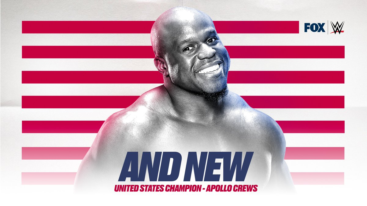 His time is now, @WWEApollo claims his FIRST Championship in @WWE by defeating @AndradeCienWWE for the U.S. Championship. #WWERaw