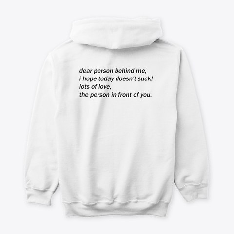 The coolest and most thoughtful hoodie   Visit the link below and check them out  Dear person behind me hoodie #Quarentinegift #coolhoodie #backtoschool #coolgifts #hoodies #womensfashion #mensfashion #giftforhim #giftforher   https://teespring.com/dear-person-behind-hoodie?tsmac=store&tsmic=cool-and-creative&pid=212&cid=5818 …pic.twitter.com/F78kKtTRpM