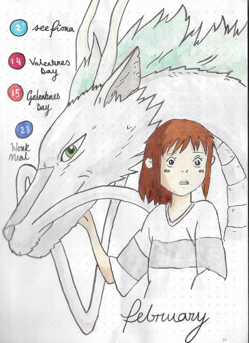 Chihiro & Haku journal page painting // #ghibli #ghibliredraw #StudioGhibli #ghibliredrawchallenge #chihiro #haku #anime #manga #animeart #mangaart #art #artist #ArtistOnTwitter #fanart #animefanart #painting #paint #sketch #draw #redraw #redrawchallenge #artists #journal #senpic.twitter.com/1JkznxFY91