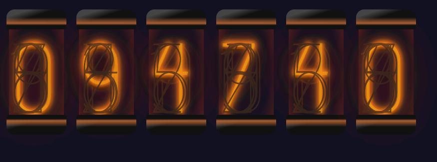 CSSだけで幻想的な光を放つニキシー管を作れるのか?  #Qiitaこれ改変してもう少し自分好みにしてみた