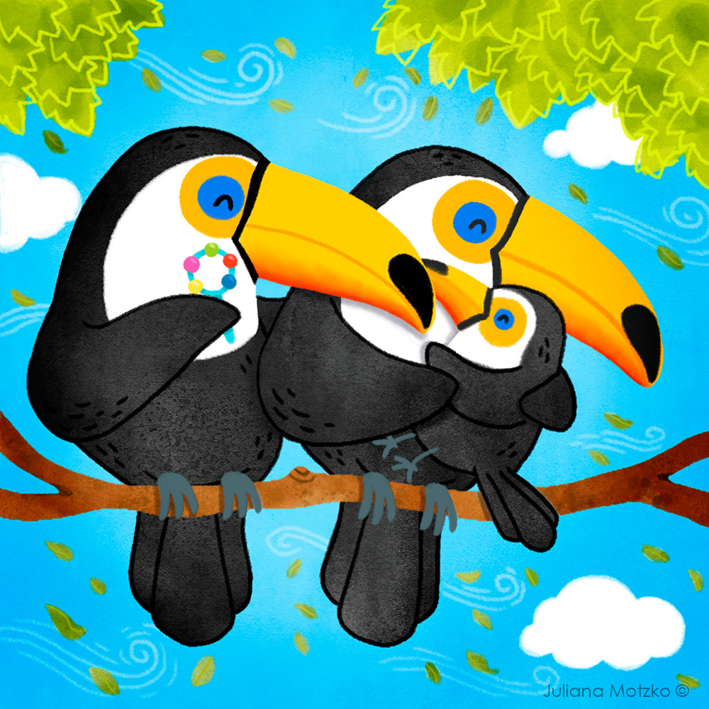 Toucan Family #toucan #toucans #toucanfamily #family #animals #cute #love #childrenillustration #kidlitart #kidlitartist #nature #birds #baby #babybooks #amazon #Brazil #brazilianbirds #childrensbook #kidsbook #illustration #BrightArtist #JulianaMotzkopic.twitter.com/rR7AjLrk0V