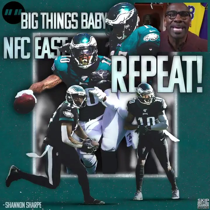 Shannon: The Eagles will be repeat NFC East Champions