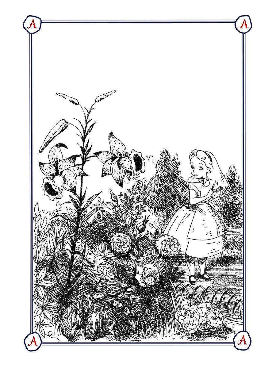 The Garden of Living Flowers (#AliceThroughTheLookingGlass)  #AliceInWonderland pic.twitter.com/JeXtNfM8NZ