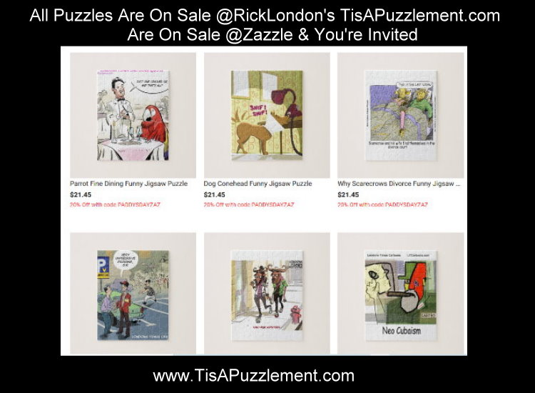All #JigsawPuzzles at our @Zazzle  on #Sale See #Code on #puzzle page #hobbies #artsandcrafts #puzzles #sale #shelterinplace #socialdistancing #worldwideshipping #crafts #artsandcrafts #hobbies #comics #tisapuzzlement @GiftsLT  @RickLondon  #gift #gifts http://TisAPuzzlement.compic.twitter.com/GWUCcFEtBb