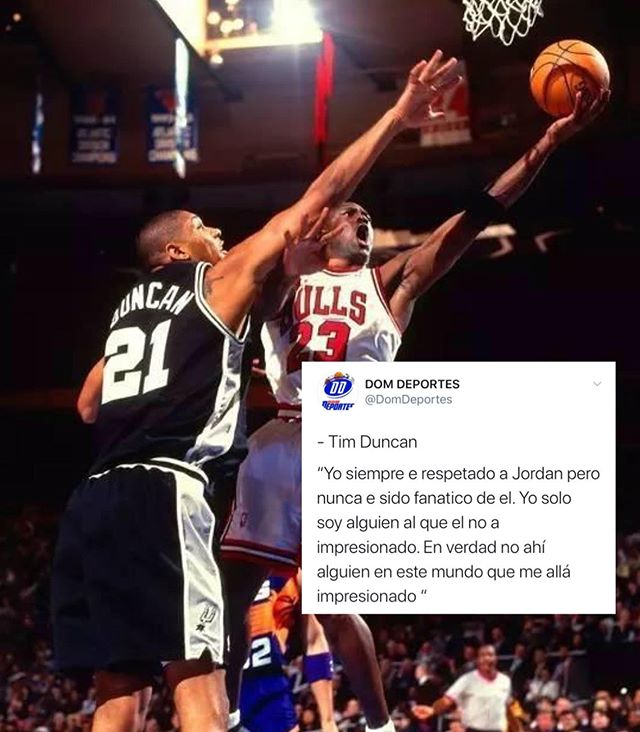 Palabras de Tim Duncan sobre su majestad mj23 ✍🏽 📸 instagram.com/p/CAn_zy_Hc2F/ via tweet.photo