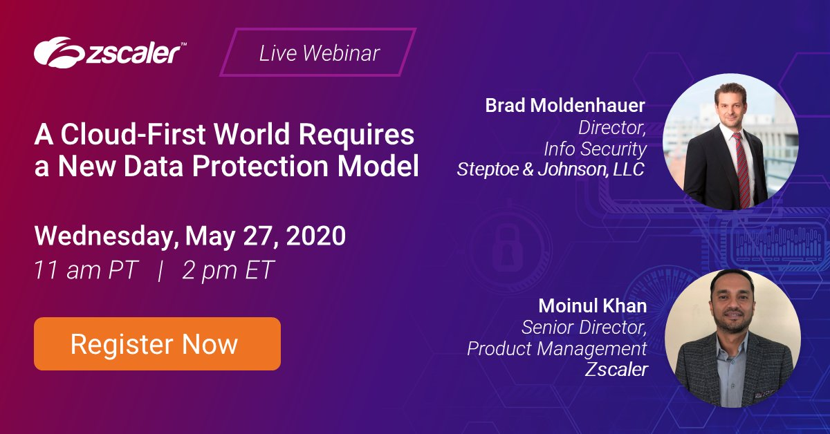"""""""How do I secure data when users and applications are everywhere?""""   We'll answer this and more #dataprotection questions on 5/27: https://t.co/9c2PsE7wjy https://t.co/uhg5kKqobb"""