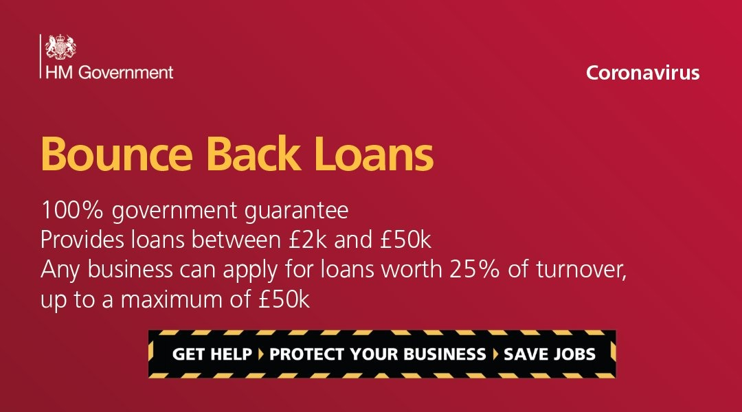 If your small business has been affected by #coronavirus, you could benefit from a loan from £2k to £50k.  No repayments due in first 12 months Will be easy to apply online Money should reach businesses in days  Find out more about the scheme here https://www.gov.uk/government/news/small-businesses-boosted-by-bounce-back-loans…pic.twitter.com/wXf99o68Bc