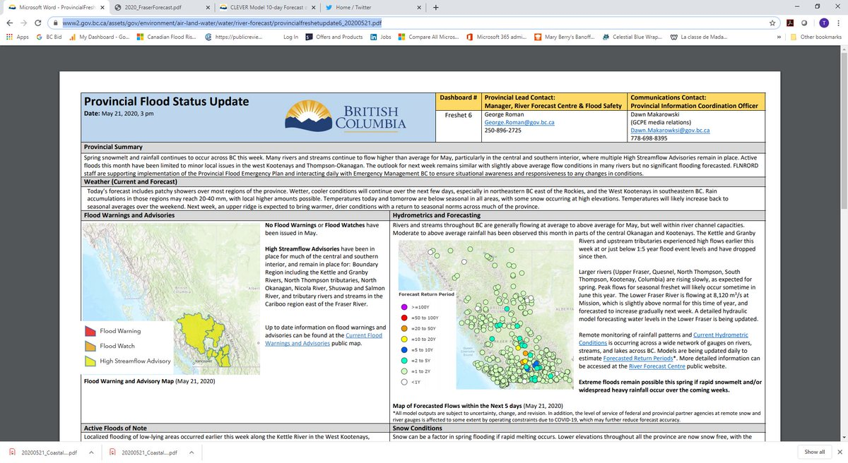 Ebbwater On Twitter Really Liking The Bc River Forecast Centre S New Format For Summarizing Info Https T Co Nza5nxurio Things Looking Stable For The Next Week Or So Https T Co Kfrrrm6tt3