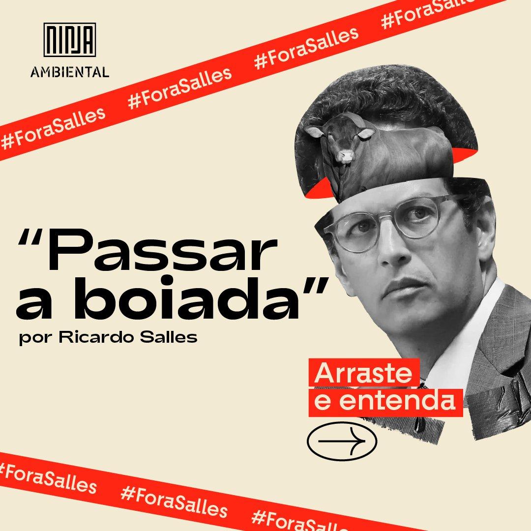 Ricardo Salles e sua estratégia de aproveitar o luto de milhares de brasileiros e a crise pandêmica para efetivar o plano de destruição e ganância foi escancarada em gravação da reunião liberada pelo STF. #BoiadaNãoVaiPassar #ForaSalles #PL2633nao