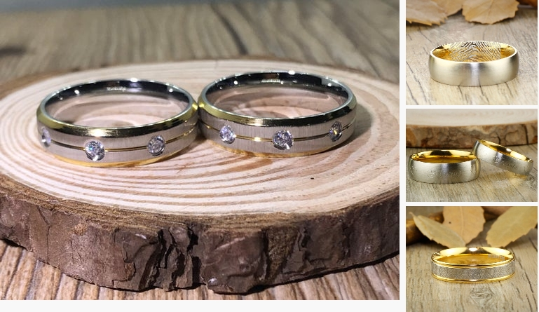 His and his Handmade Cubic Zirconia Matte Wedding  #jewelry #ring @EtsyMktgTool #handmade #weddingrings #jewelry
