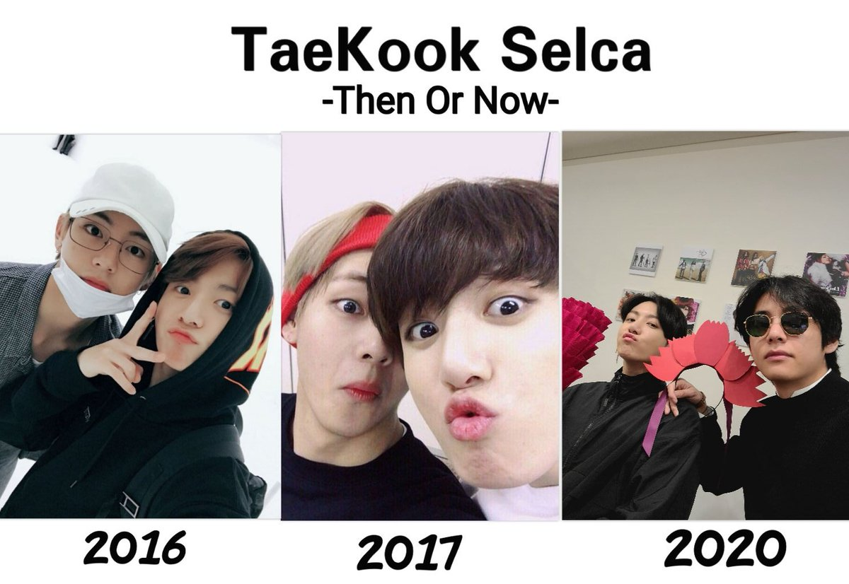 you choose selca then or now, if I can't choose because I like it all haha, @BTS_twt #taekook #selca pic.twitter.com/VO9hZt0CCo