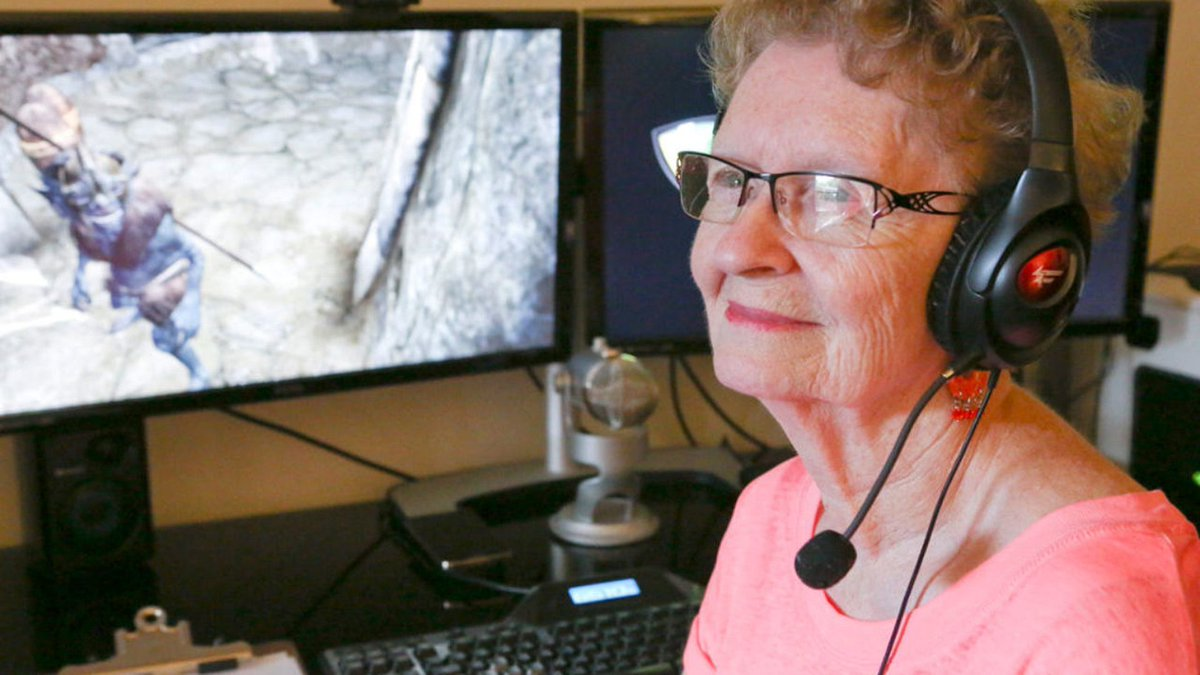YouTuber Skyrim Grandma announces she is scaling back streams for the sake of her health after receiving onslaught of patronizing comments