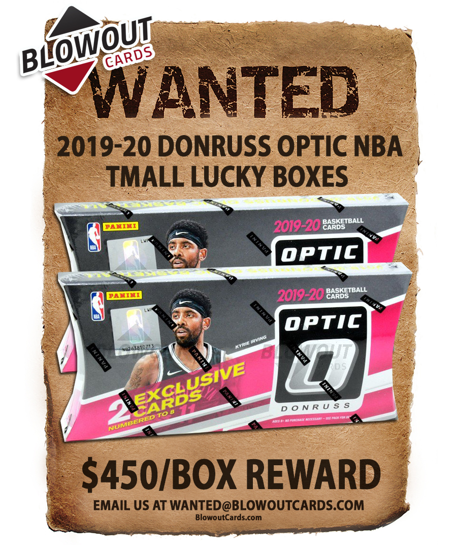Big jump for this one.   There are 90+ past Panini boxes in the Blowout's Most Wanted Megapost -- see all here >> https://t.co/itTrhLvcST #collect  @PaniniAmerica #TheHobby #NBA #NFL #MLB #FOTL #ZionWilliamson https://t.co/2CyYJlVkFd