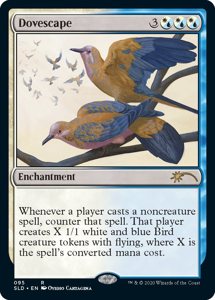 My illustration for Dovescape is also out! I loved designing a new species of dove for this piece, so happy with the results! #MTGSecretLair #MagicTheGathering #fantasyart #ovidiocartagena #illustration #birdartpic.twitter.com/iu3i5fkCbr